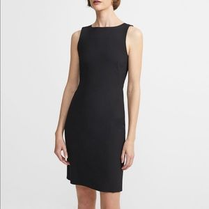 Theory Wool Shift Dress in Black